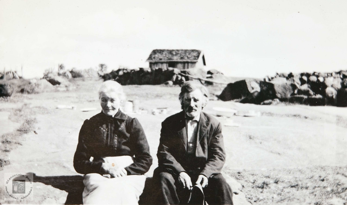 Ekteparet Anna og Nils Solberg, Bjelland senere Audnedal.