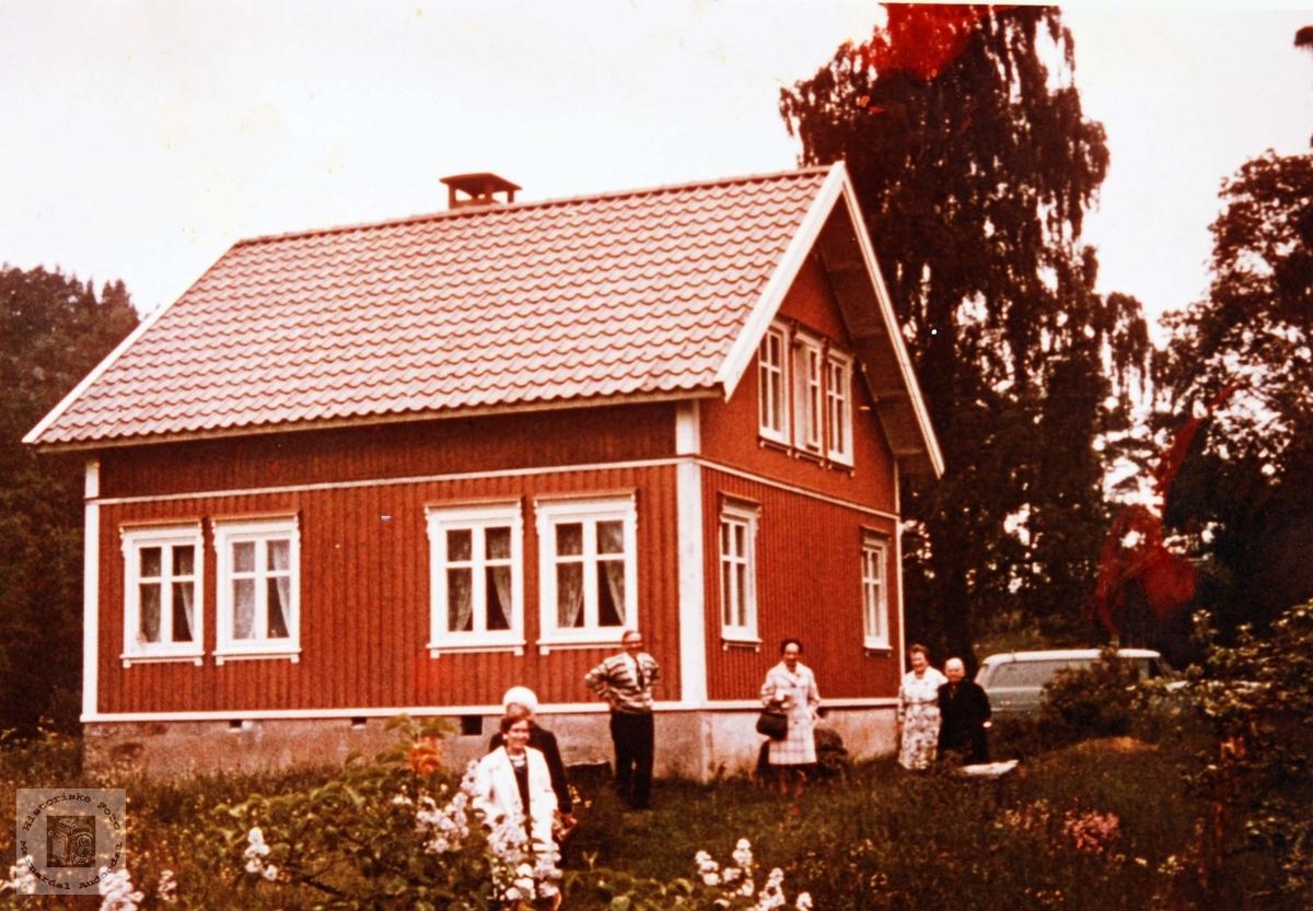 """Huset som het """"Slottet"""" i Ågedalstø Bjelland. Audnedal."""