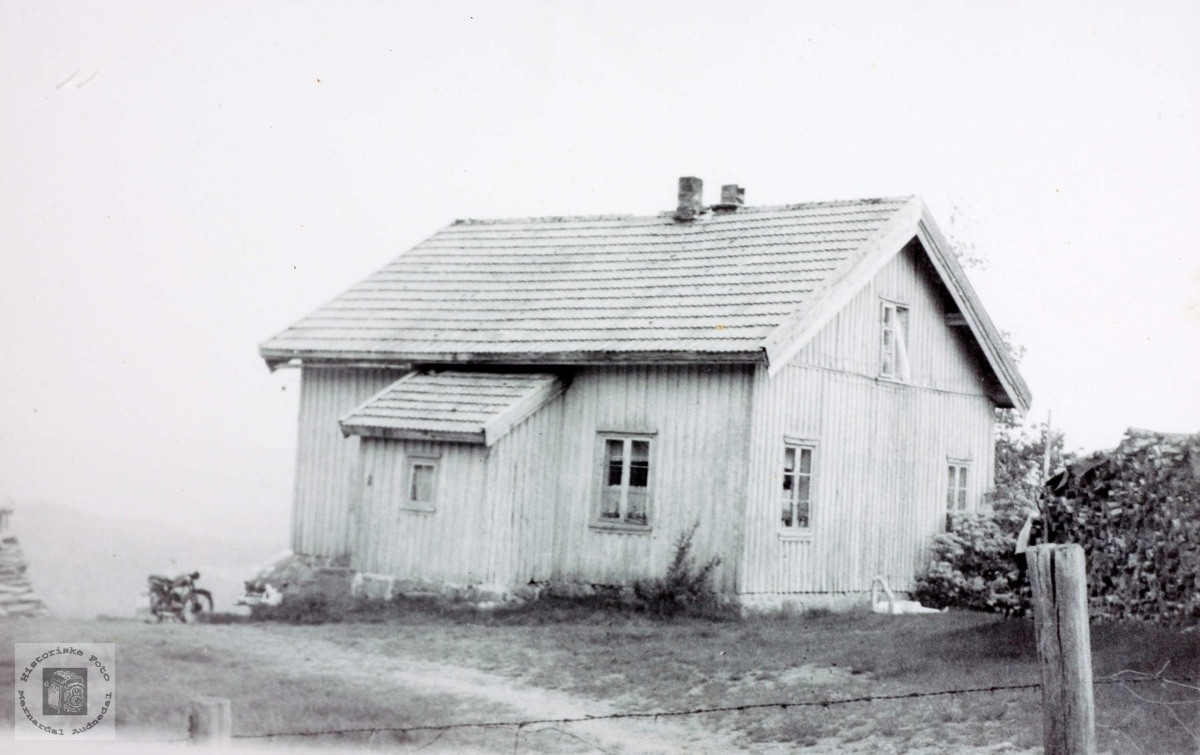 Gammelt bolighus på Flottorp. Grindheim Audnedal.