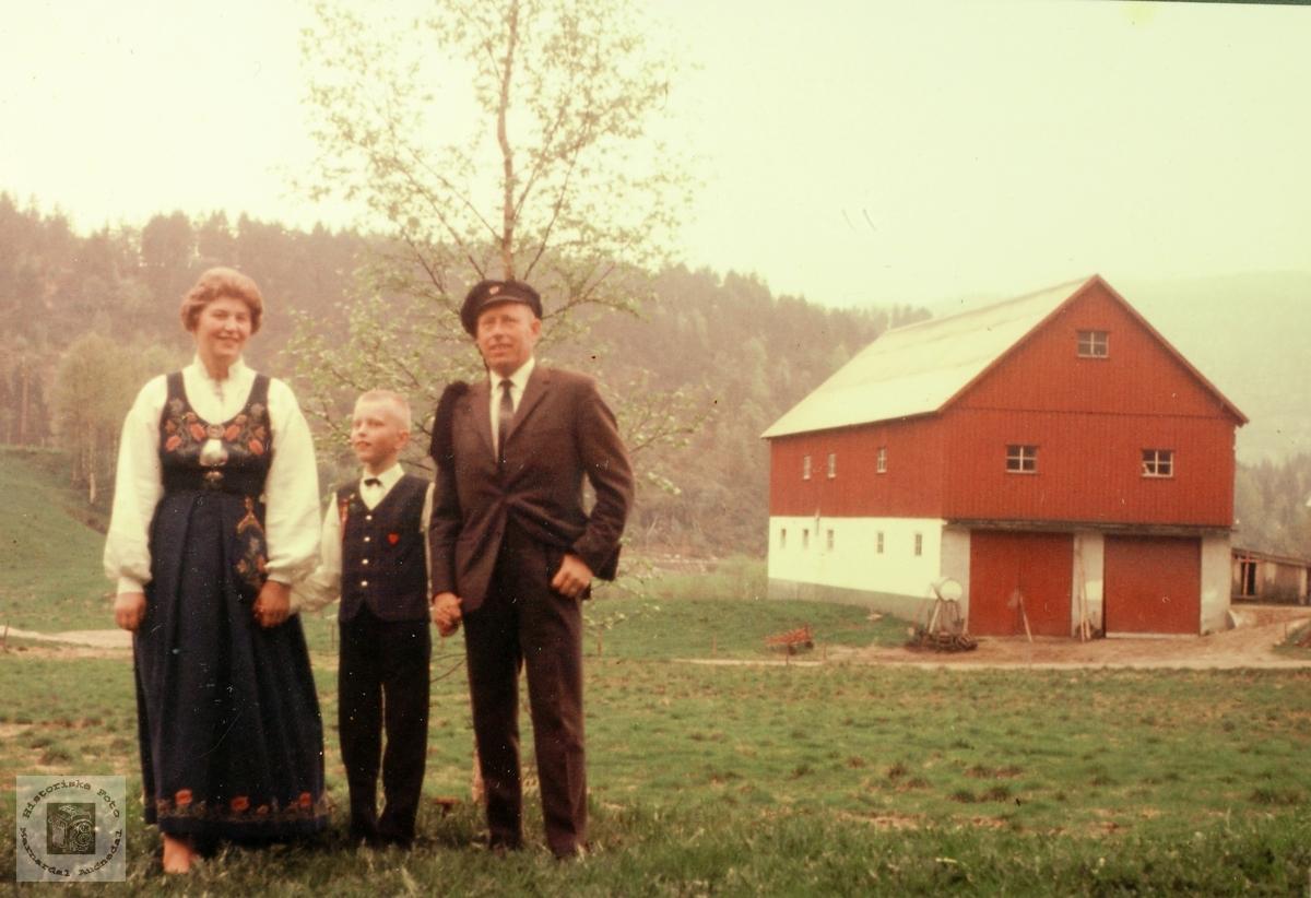 Familien Haaland i finstasen 17. mai. Grindheim.