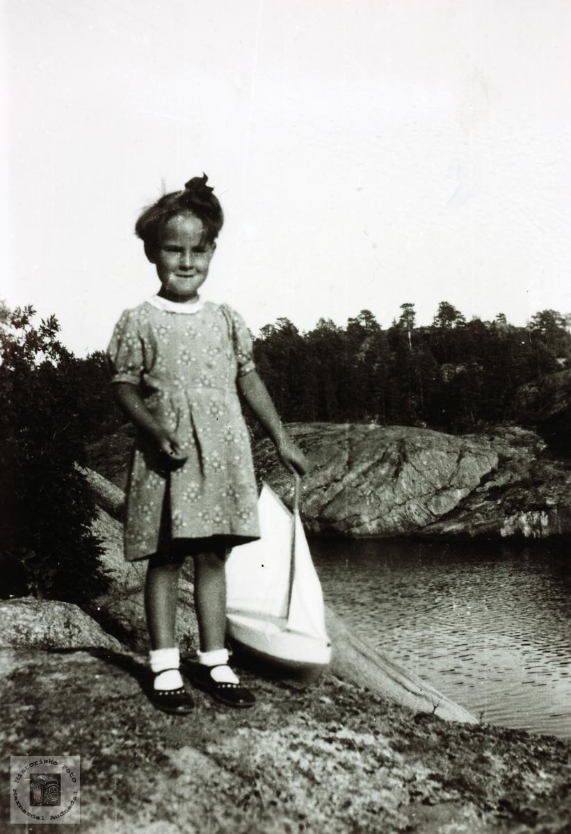 Portrett av Tordis Flottorp i unge år. Grindheim.