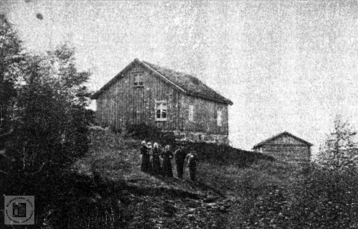 Roland og Valebrok folk ved Roslivollen i Bjelland.