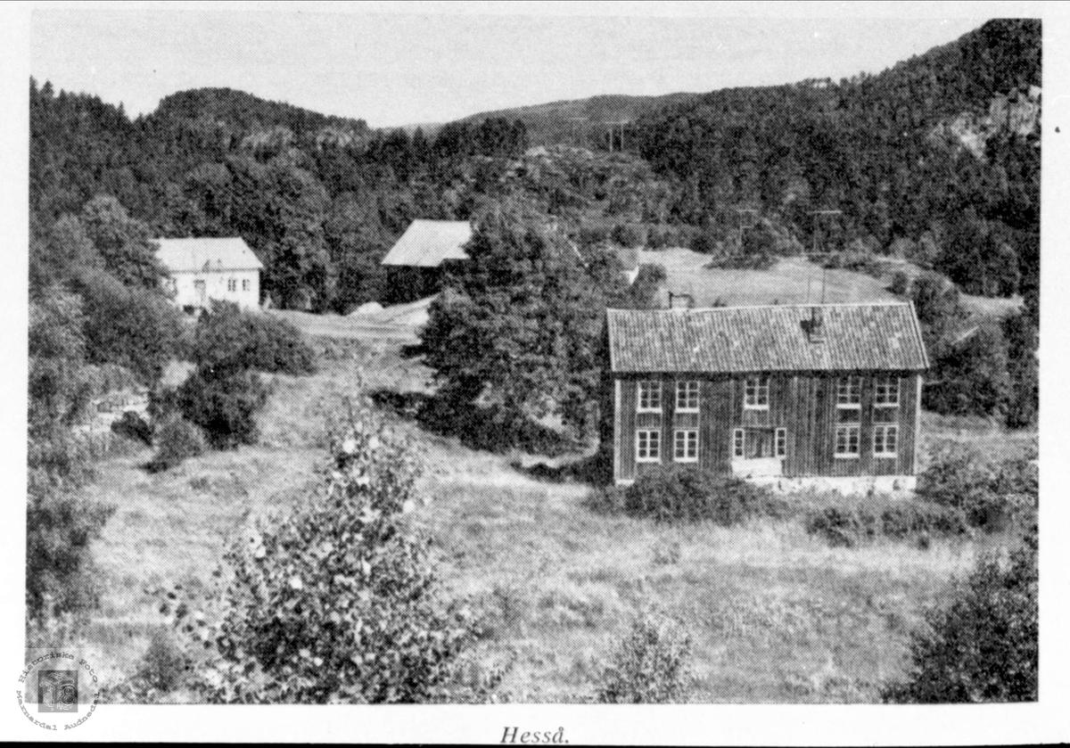 Gamletunet på Hesså i Bjellland.