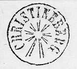 """Stämpel, s.k. """"strålstämpel"""". Cirkulär ram inom vilken i groteskstil postanstaltens namn angetts. Stämpeln saknar datum och årtal och utrymmet under och innanför namnet är utfyllt av strålpar,riktade radiellt från stämpelns centrum och lämnande ett cirkulärt tomrum i centrum. Denna stämpeltyp användes på förenade post- och järnvägsstationer och vissa andra poststationer före datumstämplarnas införande."""