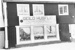 Geilo Husflid, vinter, Eksteriør, forretningsbygg,
