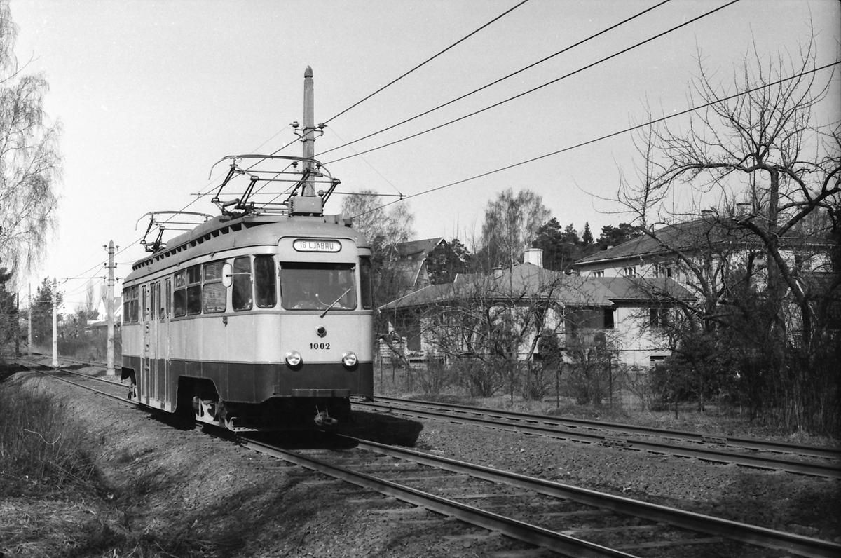 Ekebergbanen, Oslo Sporveier. Vogn 1002.