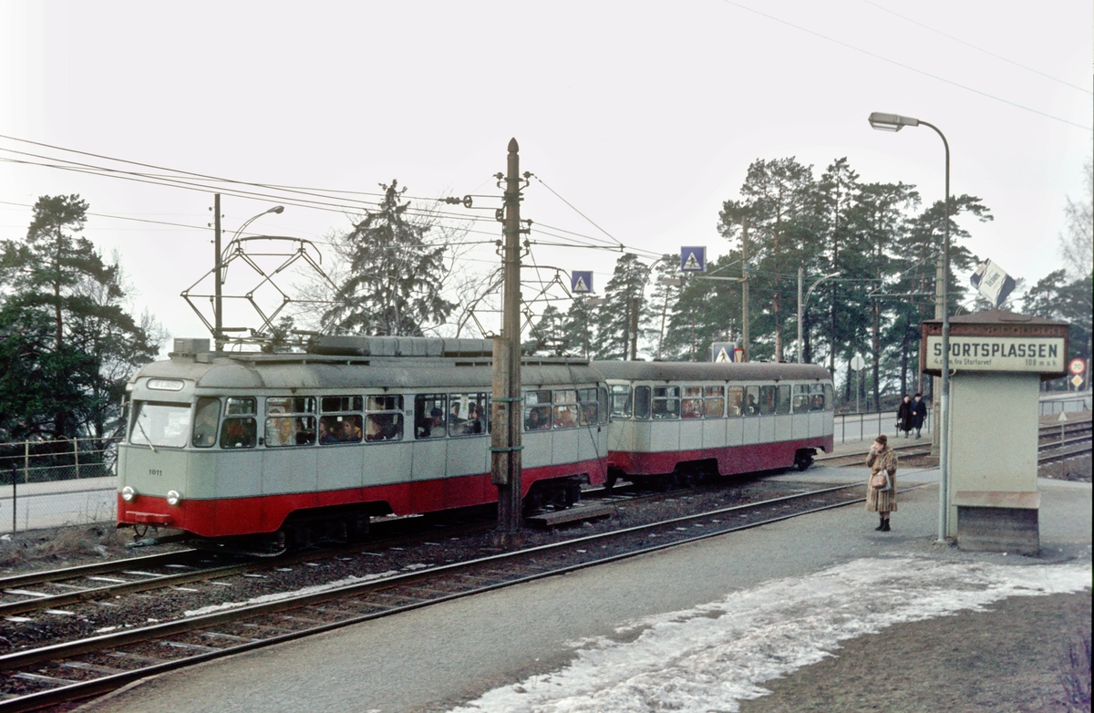 Ekebergbanen, Oslo Sporveier. Vogn 1011.