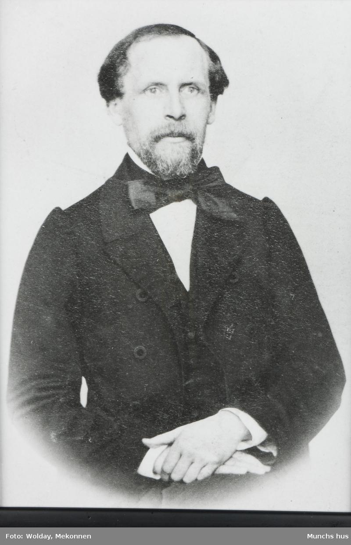 Dr. Christian Munch (1817 - 1889) Edvard Munchs far, var blandt annet korpslege og sanitetskaptein.