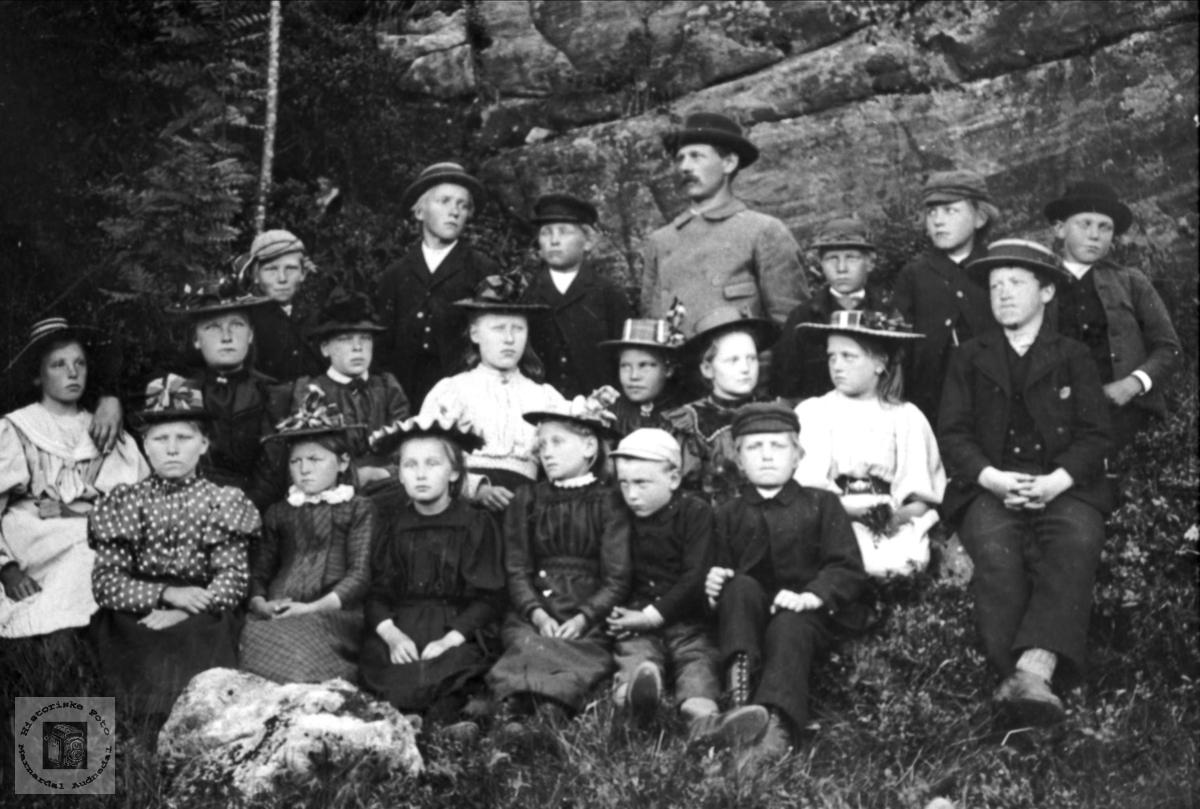 Skolebilde. Finsdal skole, Øyslebø.