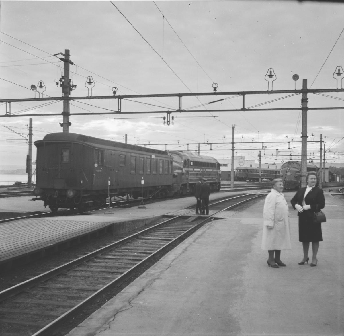 Tog til Brumunddal på Hamar stasjon.