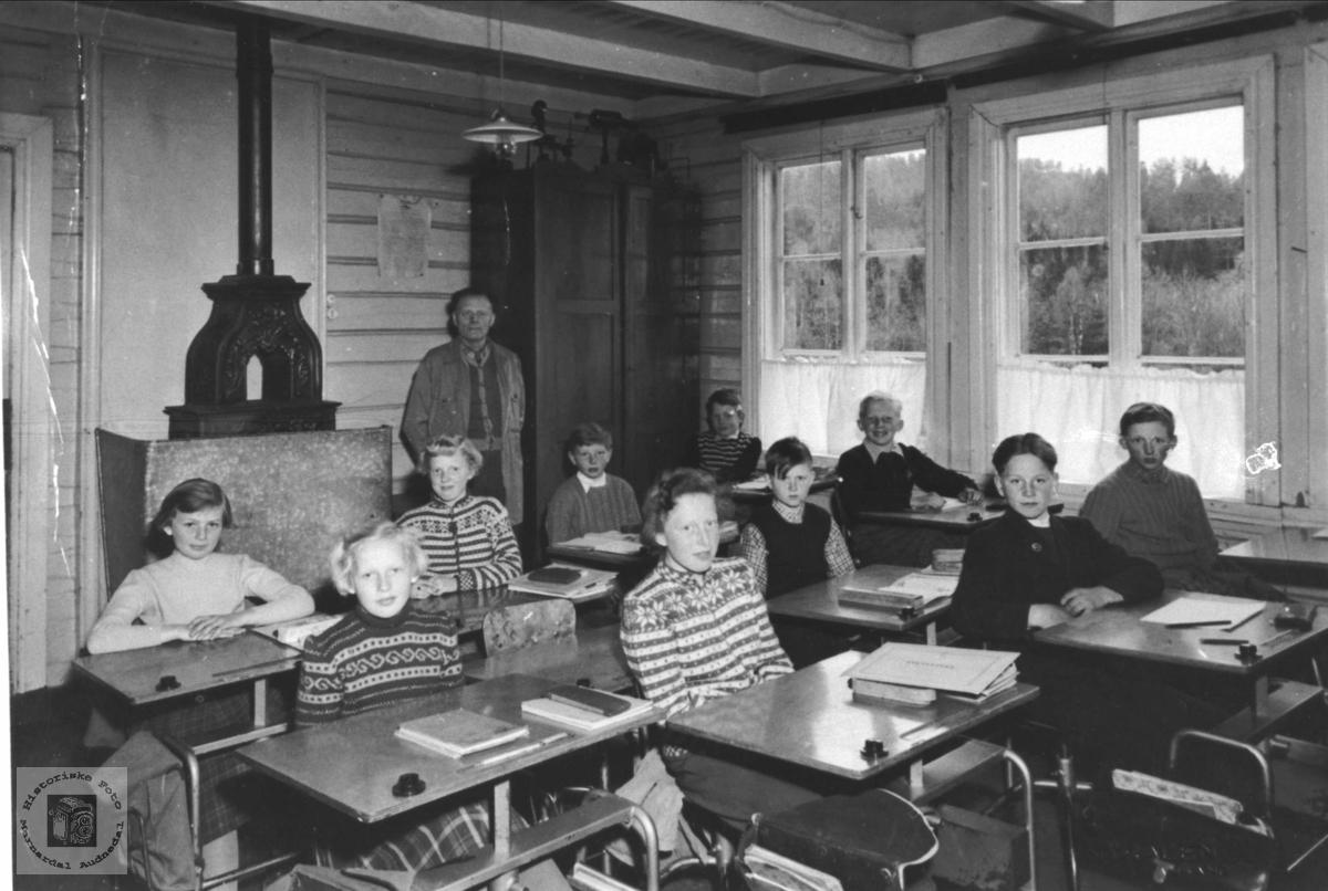 Interiør skoleklasse, Finsdal skole