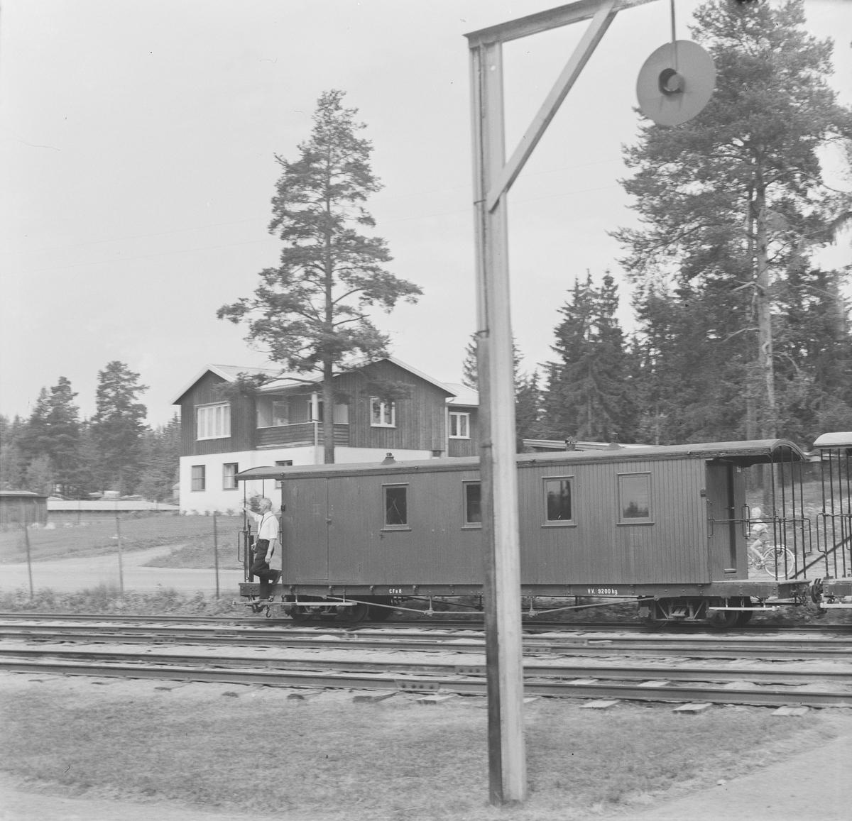 Personvogn CFo8 fra Urskog-Hølandsbanen og tidligere Nesttun-Osbanen i Tertitt-toget på Jernbanemuseet på Hamar.