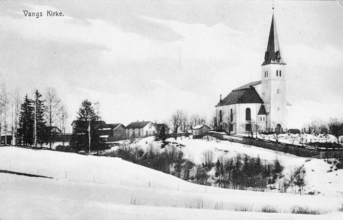 Postkort, VANG KIRKE, vinter.