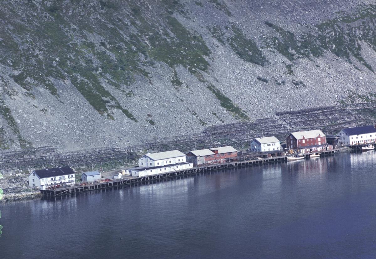 Flyfoto fra Kjøllefjord. Negativ nr. 122733. Kjøllefjord.