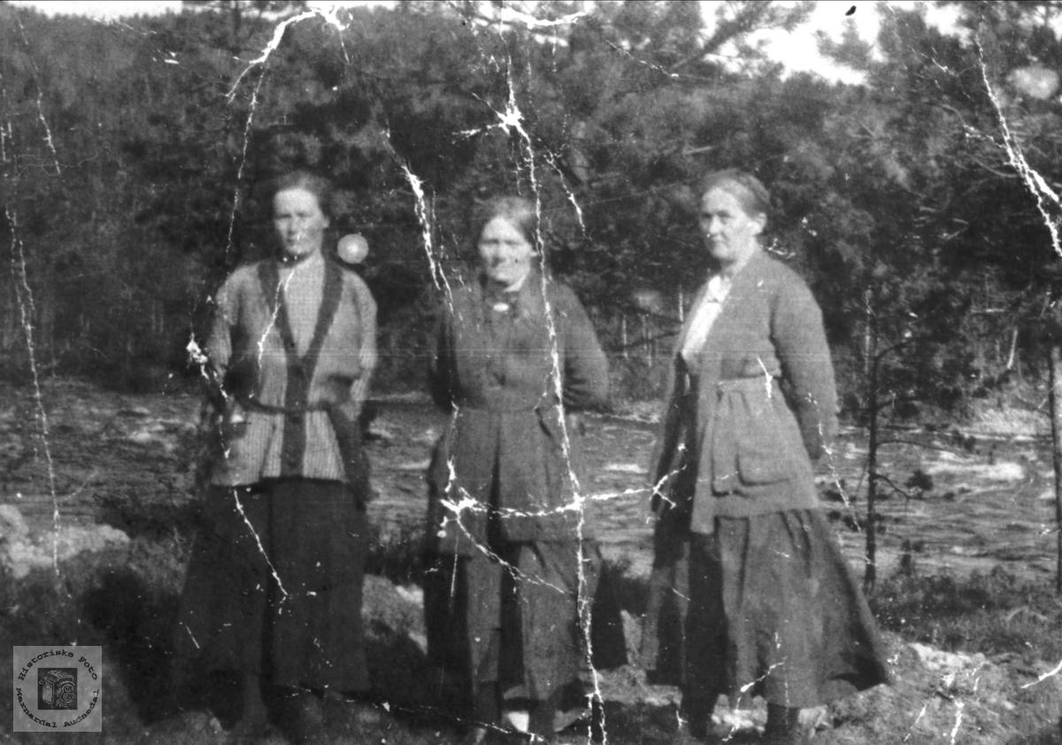 Tre kvinner. Johanna Rygnestad, Olaug Kvelland og Randi Kleveland.