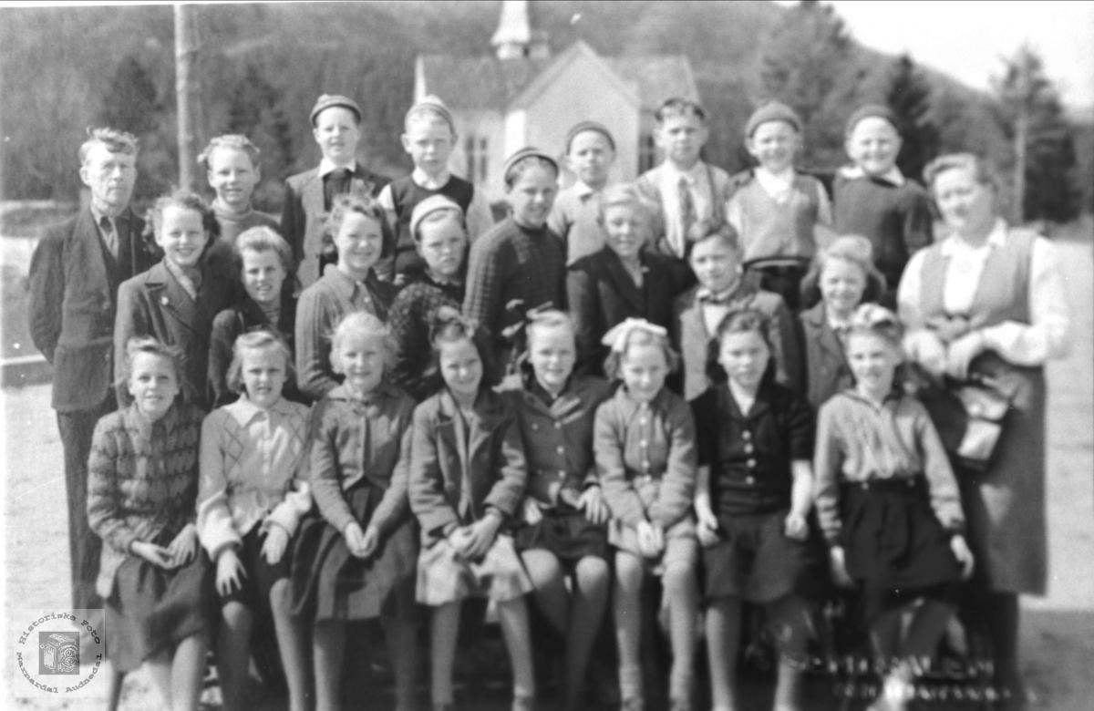 Laudal skole 1950.