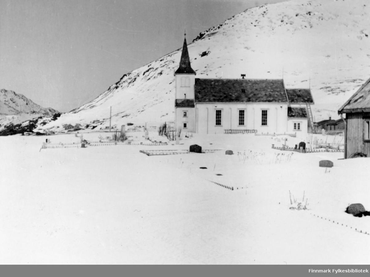 Honningsvåg kirke, 1947.