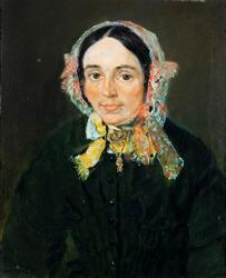 Portrett av Barbra Stabel [Oljemaleri]