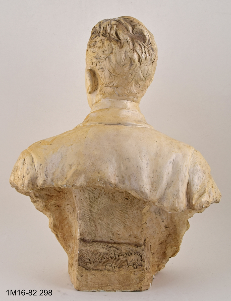 Skulptur, byst, föreställande Gustaf de Frumerie.