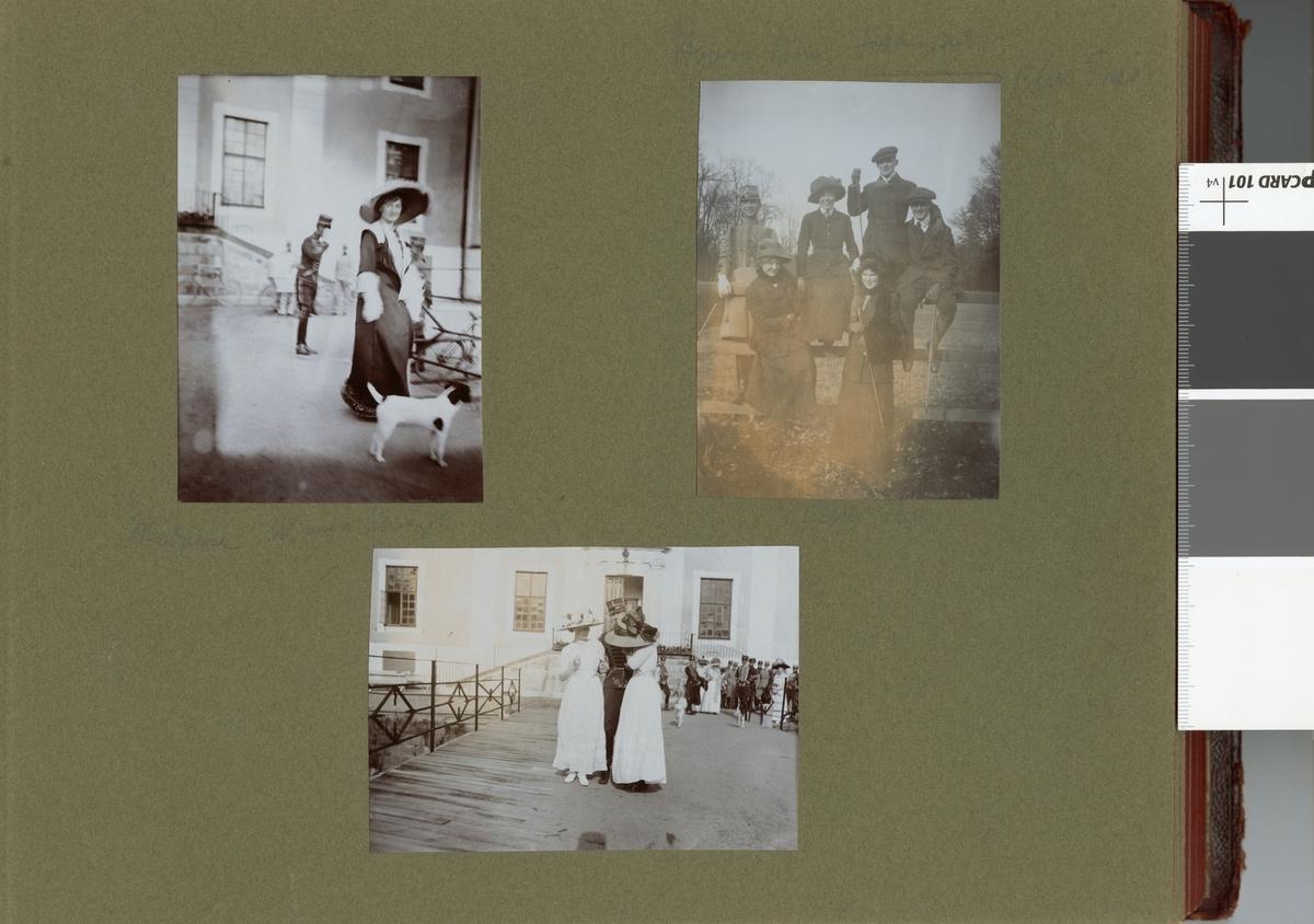 "Text i fotoalbum: ""Madame Wannberg""."