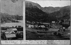 Landskap frå Vika i Åkra, Kvinnherad, 1890.