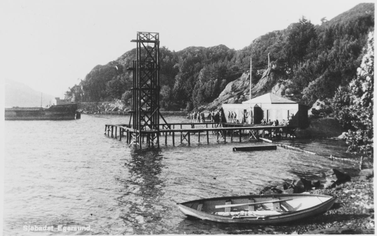 Badehuset i Egersund, ca. 1935.
