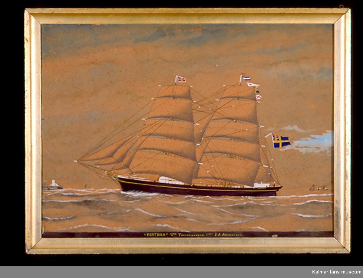 Motiv föreställande ett fartyg, Fortuna av Timmernabben.