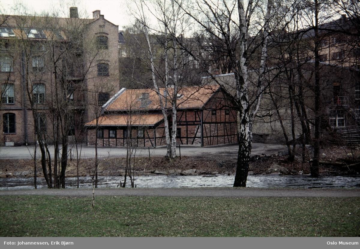 elv, fabrikkbygning, Christiania Seildugsfabrik