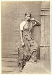 Tamilisk flicka Ceylon