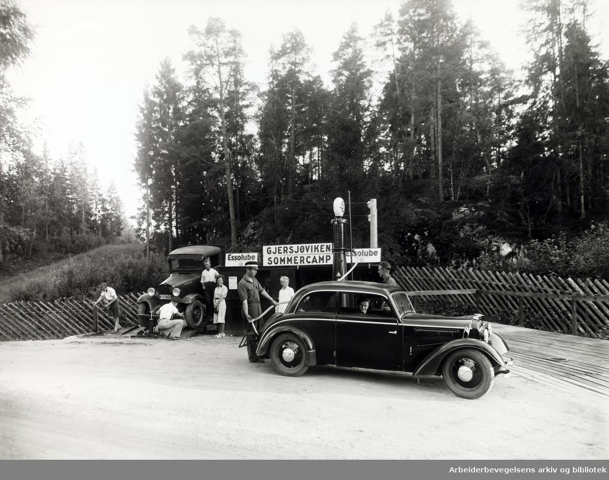 Gjersjøviken campingplass. Sommercamp 1936 - 1939