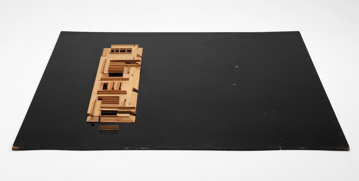 Utkast til museumsanlegg i Leopoldville [Arkitektonisk modell]