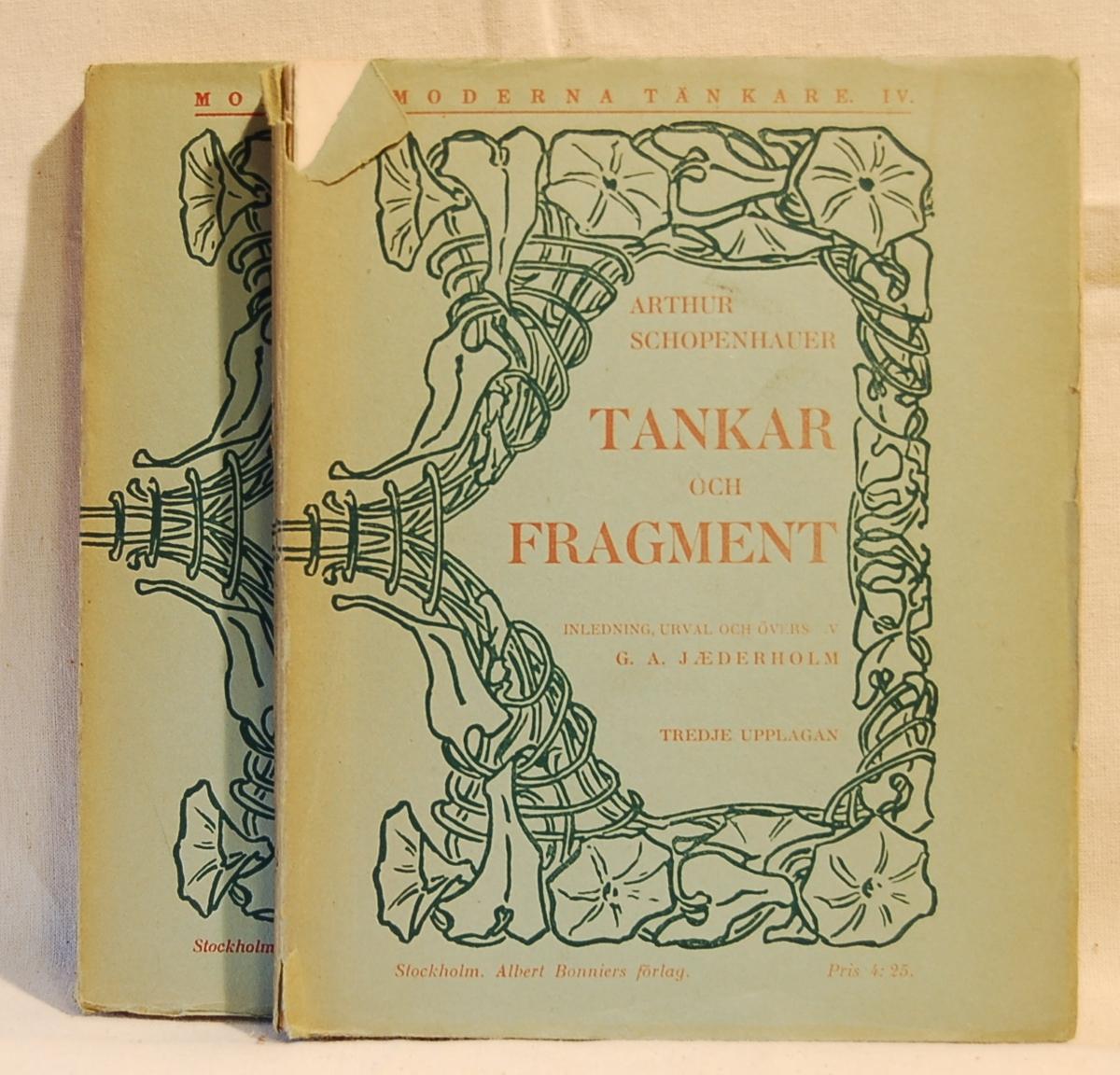 På forsiden en bladramme rundt bokens tittel