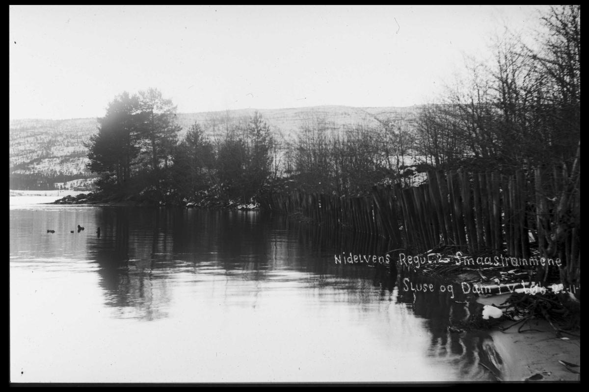 Arendal Fossekompani i begynnelsen av 1900-tallet CD merket 0446, Bilde: 13 Sted: Småstraumen Beskrivelse: Regulering