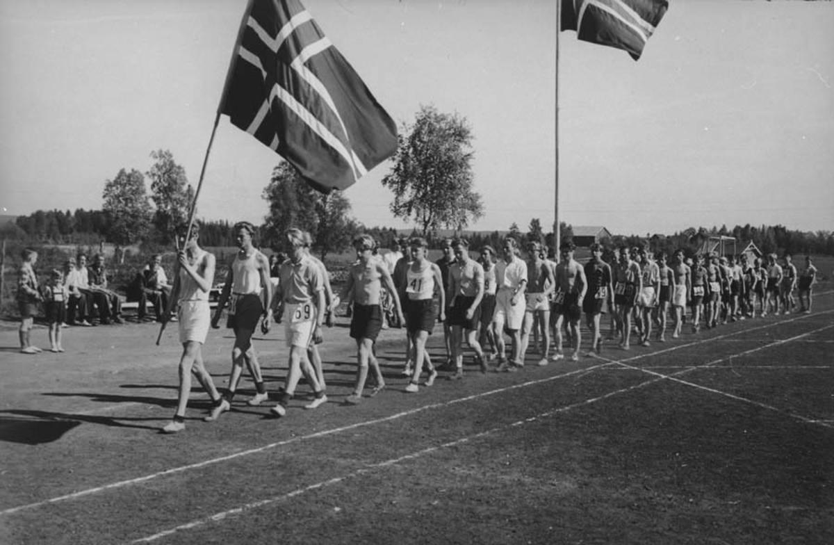 Friidrettsstevne for gutter, Ski 25.05.1946.