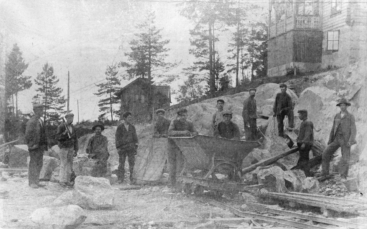 Anleggsarbeid ved Kullebunden stasjon