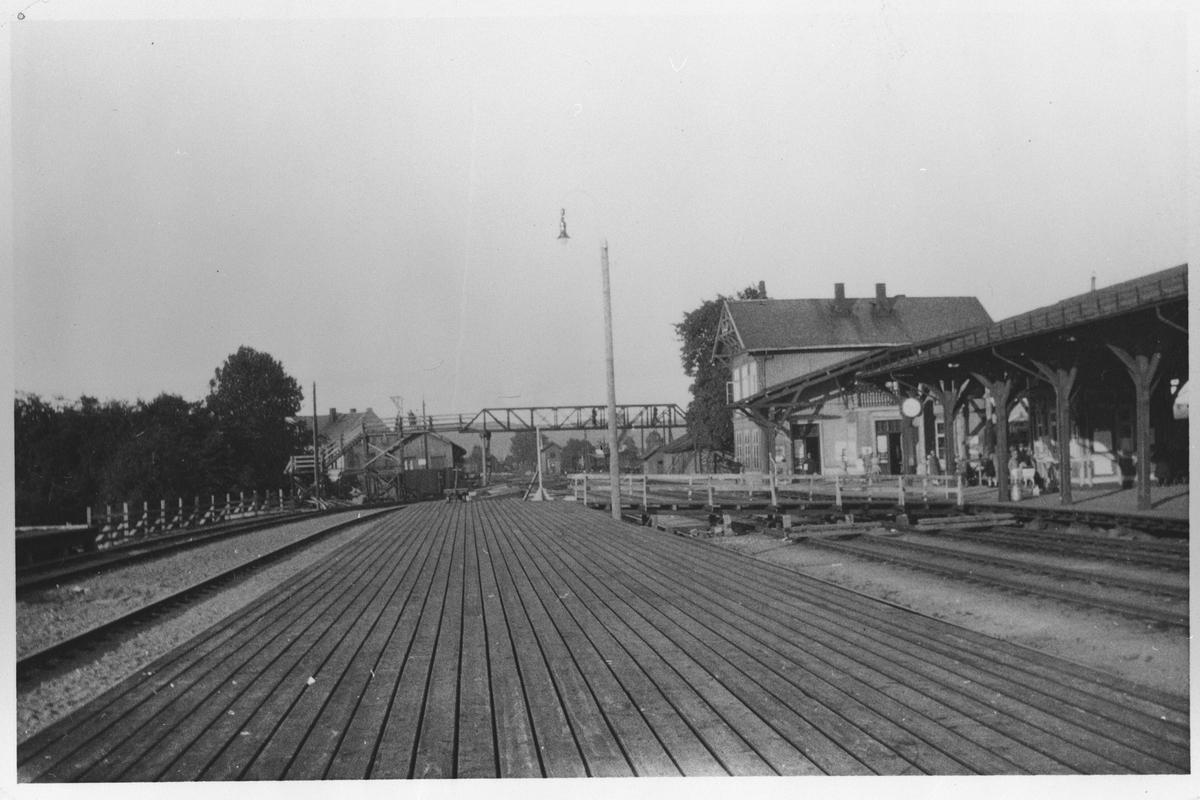 Lillestrøm jernbanestasjon like før ombyningen i 1920-årene.