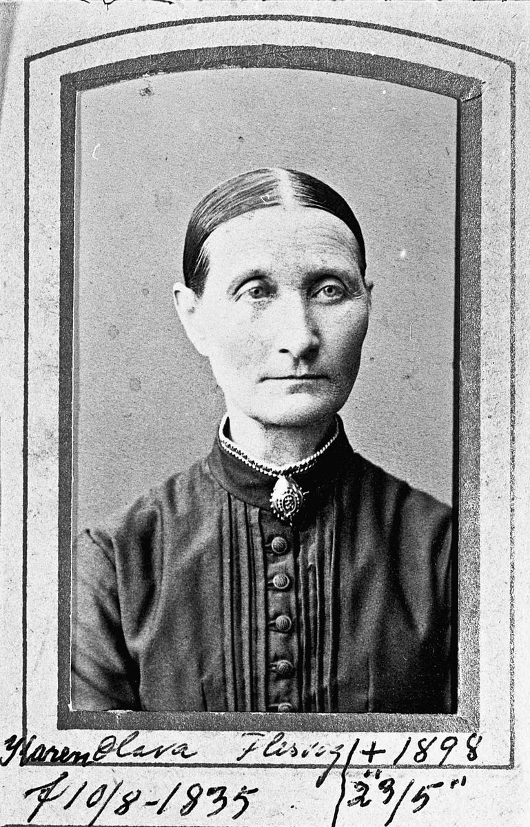 Karen Olava Flesvig fdt. 1835, død 1898