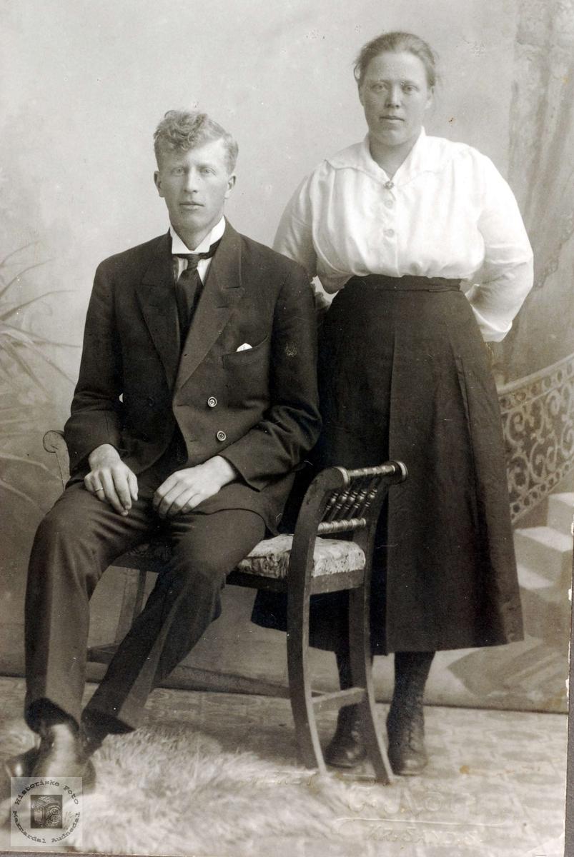 Ekteparet Ola og Guri Flottorp fra Grindheim.