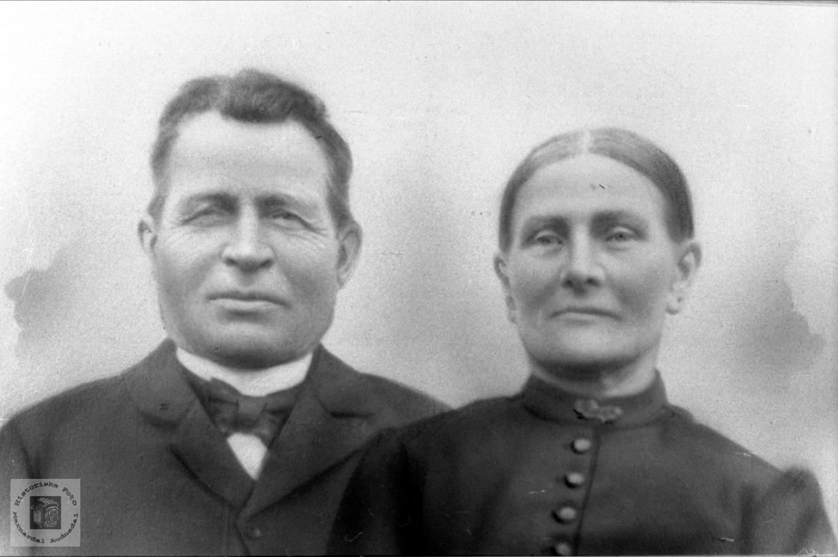 Portrett av ekteparet Ole og Siri Ågedal, Bjelland.