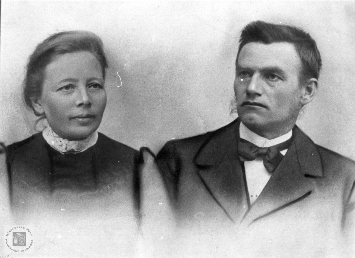 Ekteparet Andreas og Sigrid Vigemyr, Øyslebø.