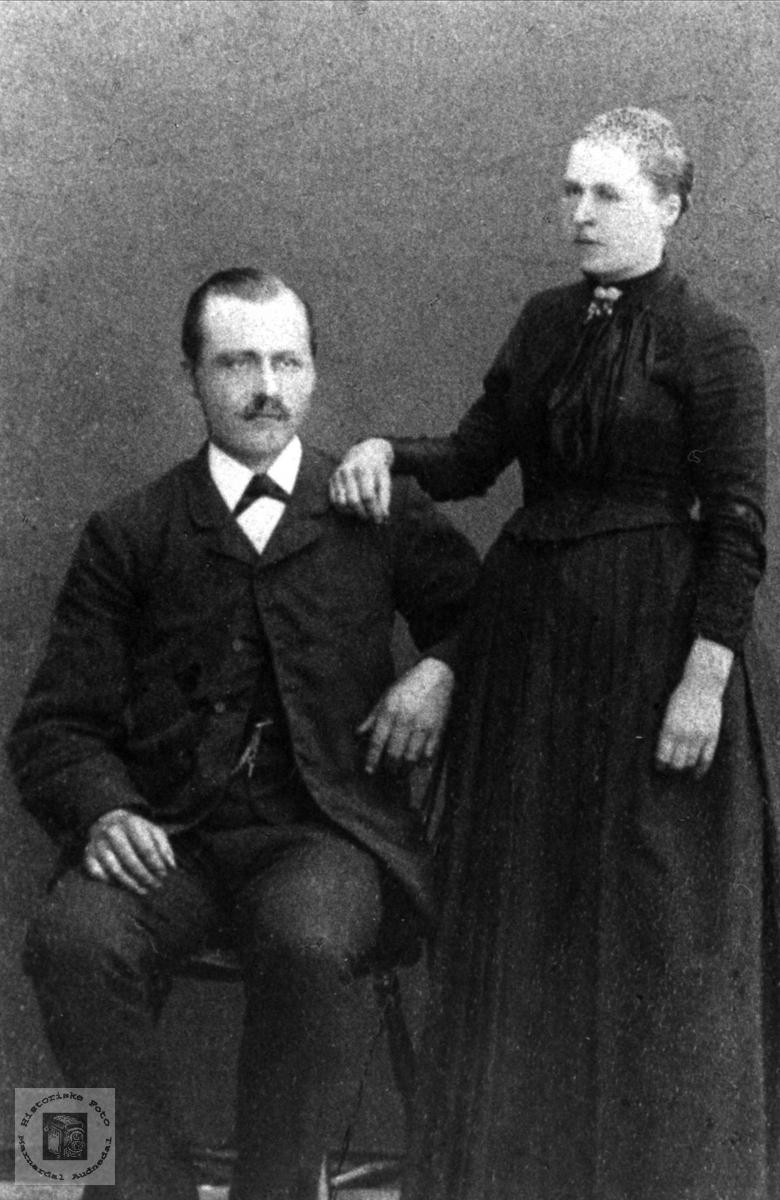 Ekteparet Ole og Augusta Elise Skuland, Laudal.