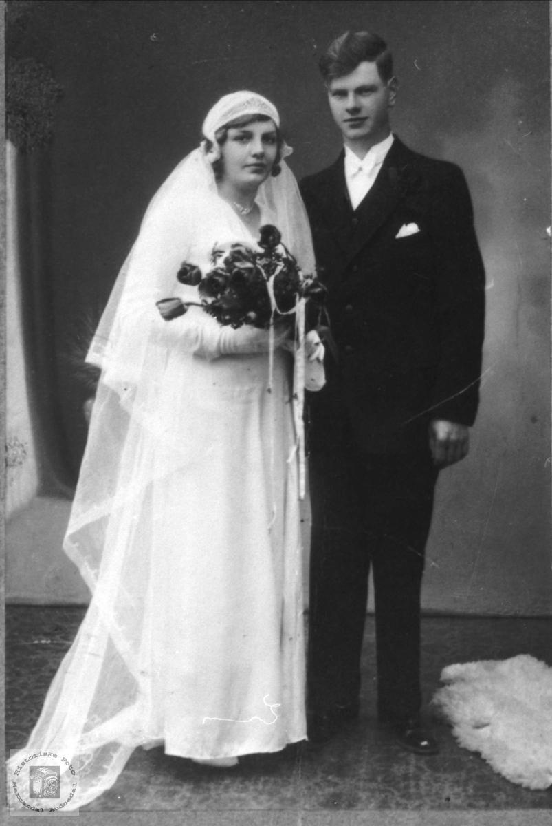 Ekteparet Borghild Kleveland og Kristen Eikså