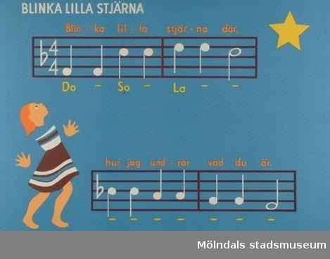 Musik.Blinka lilla stjärna.Melodiplanscher.