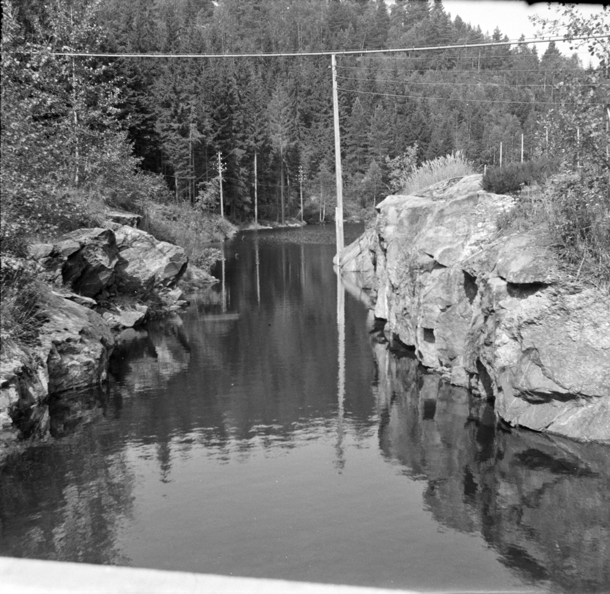 Setesdalsbanens nedlagte trase er satt under vann etter byggingen av Beihølen dam.