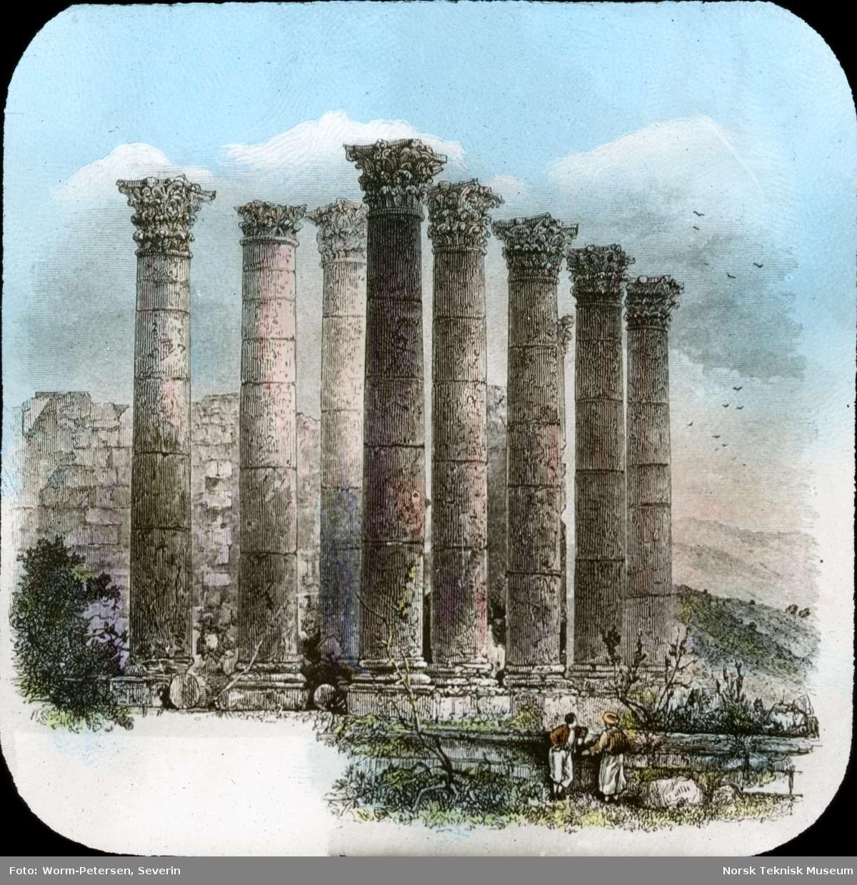 Dias: Egypt: Tegning: Ruiner ved Gerasa