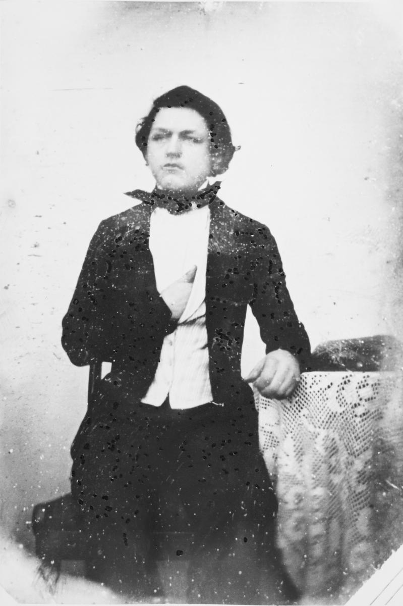 Portrett av Anders Haneborg. Avfotografering av daguerreotypi.