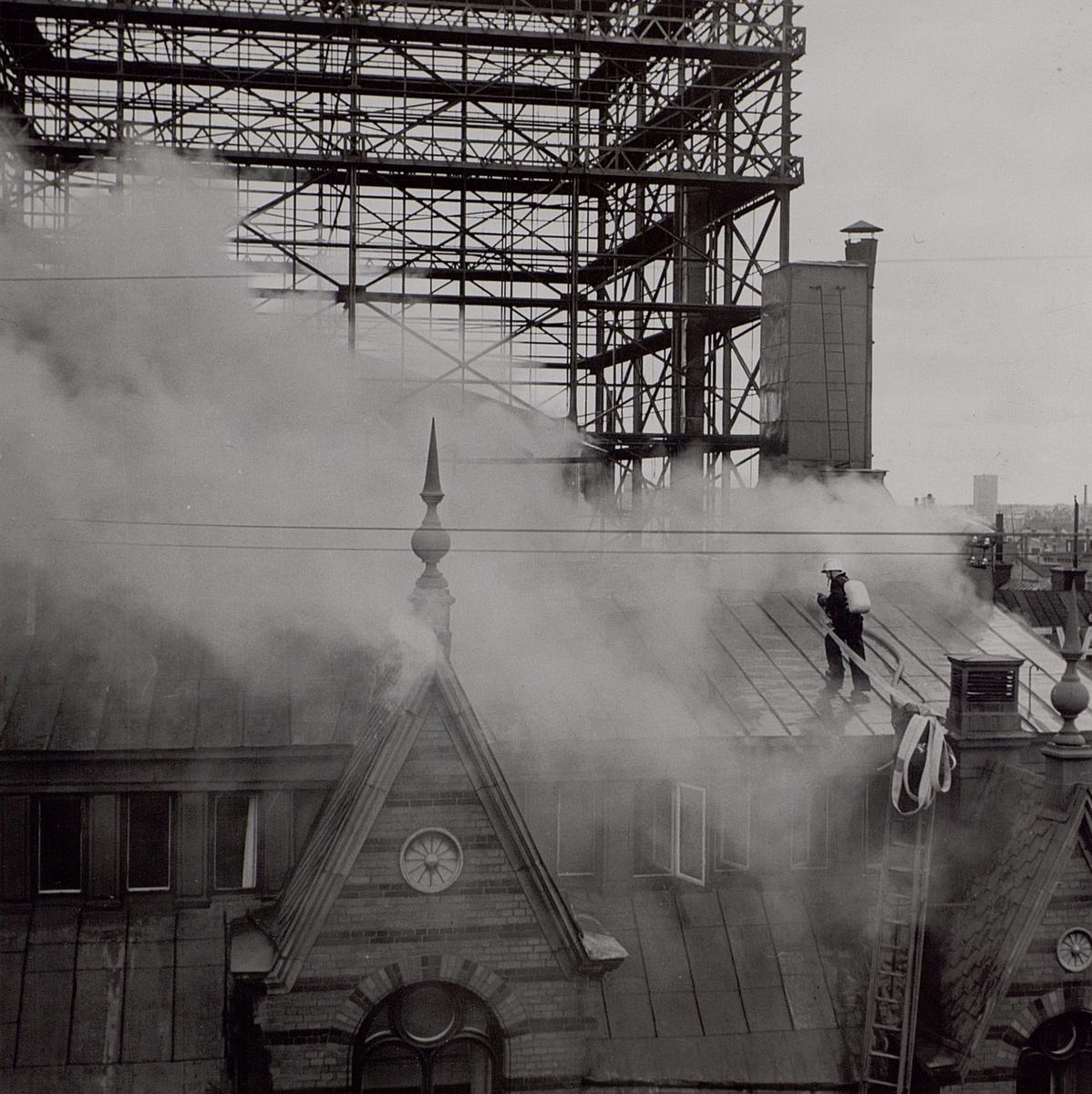 Telefontornet. Branden den 23 juli 1952.