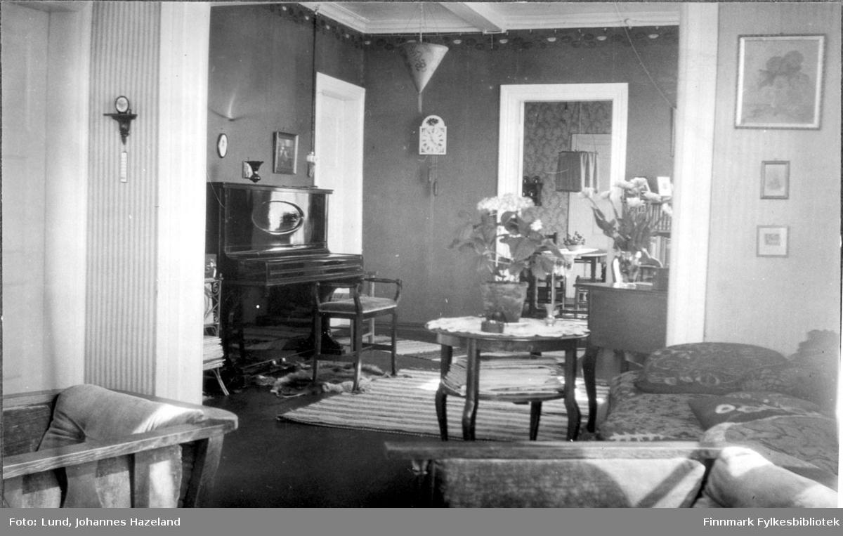 Stua i familien Lunds hjem i Bossekop