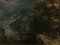 Skoglandskap [Maleri]