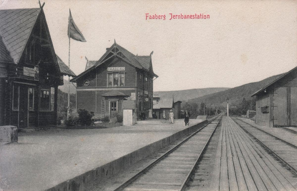 Fåberg jernbanestasjon.